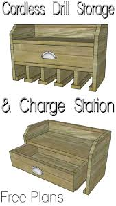 Charging Station Shelf Cordless Drill Storage Charging Station Her Tool Belt