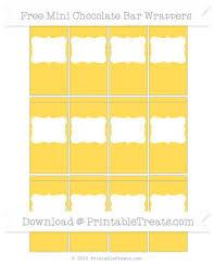 Free Mustard Yellow Diy Mini Chocolate Bar Wrappers