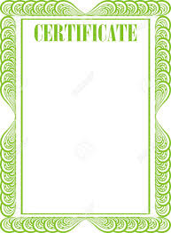 white certificate frame certificate frame isolated on the white background
