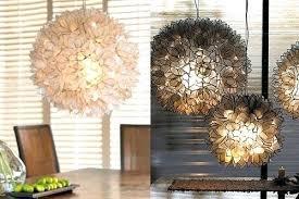 capiz shell lotus flower chandelier decorating gorgeous fascinating