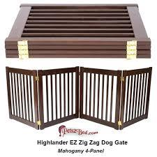 wood pet gate dynamic accents highlander 4 panel dog gate in mahogany wooden dog gates indoor wood pet gate