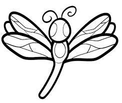 Small Picture Dragonfly clipart coloring page Pencil and in color dragonfly