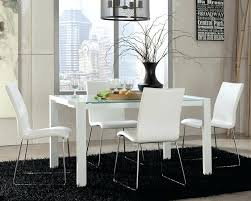 contemporary table and chair sets dining room elegant modern white dining room chairs set with white