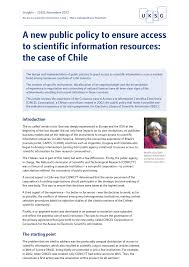 A new public policy to ensure access to scientific information ...