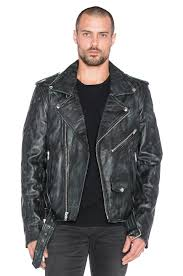 blk dnm leather jacket 5 in blue black