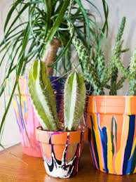how to make drip paint pots