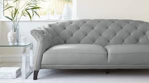 cloud grey quality leather sofa
