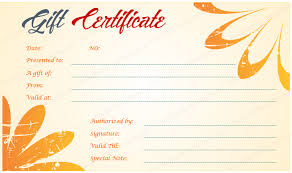 Hawaiian Design Gift Certificate Template
