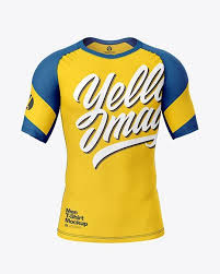 Compression T Shirt Mockup Front View In Apparel Mockups On Yellow Images Object Mockups In 2020 3 D