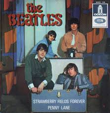 Image result for strawberry fields forever beatles 45