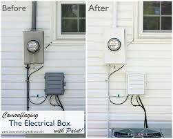 remodelaholic 13 ways to hide outdoor eyesores Fuse Box Outside House paint utility box wires camouflage fuse box outside house