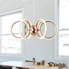 nordic led chandelier metal rose gold ball pendant lamp indoor lighting living dining room decoration light fixture multi light pendants traditional