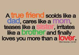 Funny True Quotes Amazing A True Friend Scolds Like A Dad Funny Friend Image