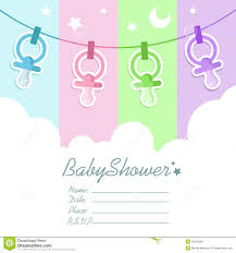 baby shower invitation blank templates baby shower invitation card stock vector illustration of moon