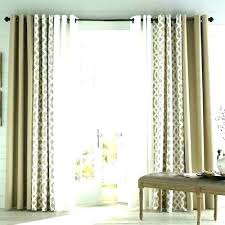 back door window curtain ideas sliding glass curtains rods in do repair cost