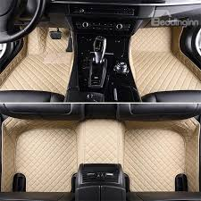 car floor mats for women. 14 Luxury Series Plaid Trims Design Leather Carpet Custom Fit Car Floor Mats Liners For Women A