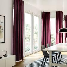 Sanftes Licht Im Esszimmer Mit Bodenlangen Vorhängen Ikea