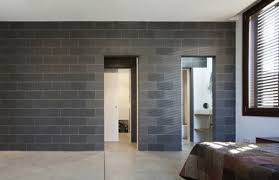 interior concrete block wall finish