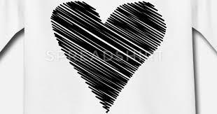 Cuore Scarabocchio Disegno In Bianco Amore Minima Maglietta Per