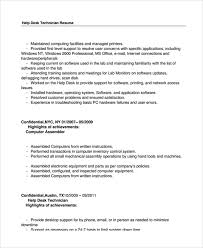 computer support technician resume help desk technician resume template 8 free documents