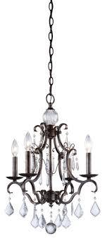 vintage 4 light dark bronze chandelier