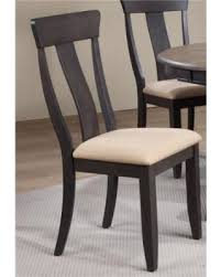 Iconic Furniture CH57-U-97-BKS Panel Back Dining Chair Upholstered seat &