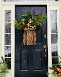 Ballard Designs Christmas Wreaths Adirondack Hanging Basket Front Door Christmas Decorations