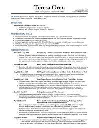 records management resume sample records manager resume sample records  information management resume medical records supervisor resume