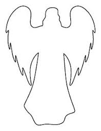Christmas angel pattern. Use the printable outline for crafts ...