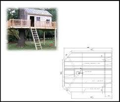 14 x 12 Rectangular Treehouse Plan Standard Treehouse Plans