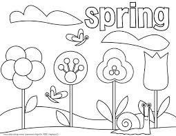 Printable Coloring Pages Spring Flowers Spring Flowers Printable