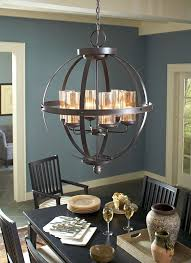 sea gull lighting 3110406en3 715 sfera 6 led light chandelier in autumn bronze with mercury shade