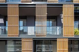 office facade. Perspective Office 15 Wood Separator Transparent Facade Design U