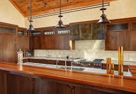 barn chandeliers add dash of rustic flavor to modern kitchen