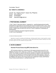 Other Area Of Specialization In Resume - Resume Ideas. Resume Tess Madrinico