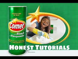 clean your shoes with comet