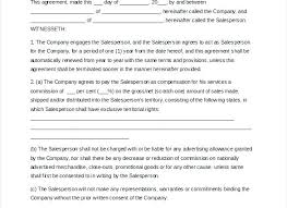 Best Sales Representative Contract Template Image Collection