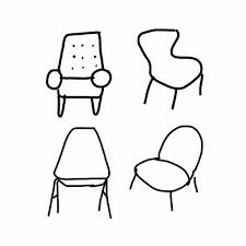 Quick sketch of chairs on my iPad chairs drawing art Flickr