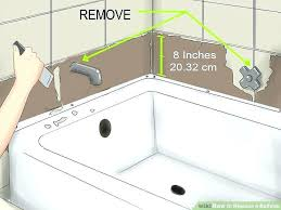 how to replace bathtub faucet stem replacing fixtures image titled a step how to replace bathtub faucet