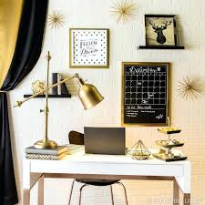office accessories modern. Classy Black And Elegant Gold Pair Together For A Stylish Home Office Desk Accessories Modern Glam Decor