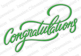 word of congratulations congratulations dies embossing folders punches 123stitch com