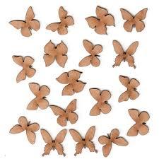 Sheet Of Mini Mdf Wood Butterflies Style 2