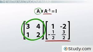 multiplicative inverses of matriceatrix equations lesson transcript study com