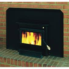 wood burning fireplace insert with gas starter