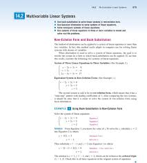 can be applied to a sstem of linear equations in more than two variables in fact
