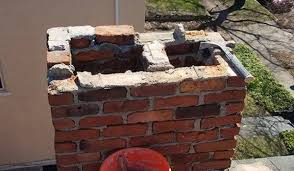 exterior chimney the part that protrudes above the roofline is too far gone to repair in these cases we ll build you a completely new chimney that