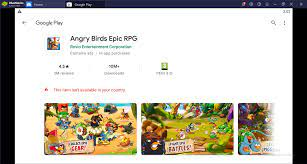 Windows - Angry Birds Epic: BlueStacks