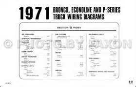 1971 ford bronco econoline wiring diagram original e100 e200 e300 1971 ford bronco econoline wiring diagram original e100 e200 e300 van