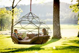 Hanging Tree House Relax In A Futuristic Hanging Chair
