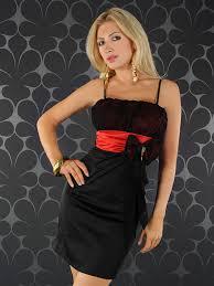 annawear - Abendkleid schwarz/rot